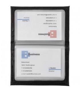 Carcasa card de vizita piele cu 20 compartimente